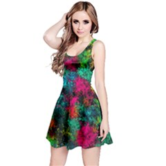Squiggly Abstract B Reversible Sleeveless Dress