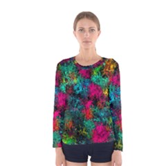 Squiggly Abstract B Women s Long Sleeve Tee