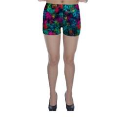Squiggly Abstract B Skinny Shorts