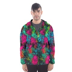 Squiggly Abstract B Hooded Wind Breaker (men)