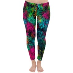 Squiggly Abstract B Classic Winter Leggings