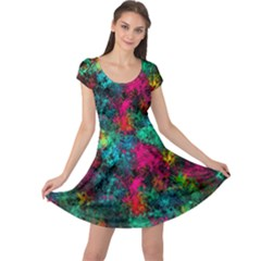 Squiggly Abstract B Cap Sleeve Dress
