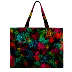 Squiggly Abstract B Zipper Mini Tote Bag