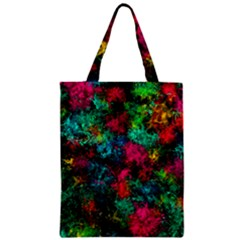 Squiggly Abstract B Zipper Classic Tote Bag