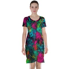 Squiggly Abstract B Short Sleeve Nightdress
