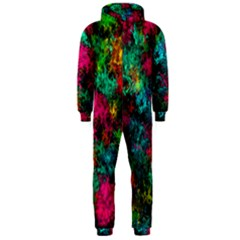 Squiggly Abstract B Hooded Jumpsuit (men)