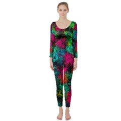 Squiggly Abstract B Long Sleeve Catsuit