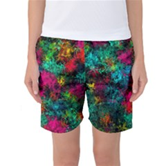 Squiggly Abstract B Women s Basketball Shorts
