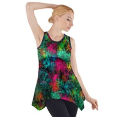 Squiggly Abstract B Side Drop Tank Tunic