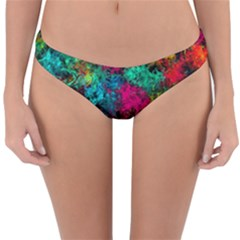 Squiggly Abstract B Reversible Hipster Bikini Bottoms