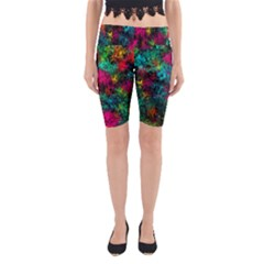 Squiggly Abstract B Yoga Cropped Leggings