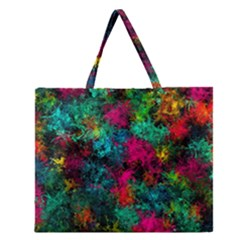 Squiggly Abstract B Zipper Large Tote Bag