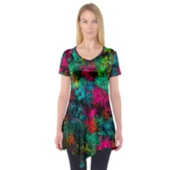 Squiggly Abstract B Short Sleeve Tunic