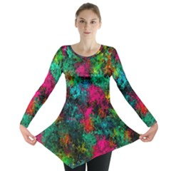 Squiggly Abstract B Long Sleeve Tunic
