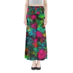 Squiggly Abstract B Full Length Maxi Skirt