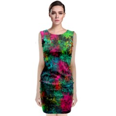 Squiggly Abstract B Classic Sleeveless Midi Dress