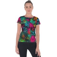 Squiggly Abstract B Short Sleeve Sports Top