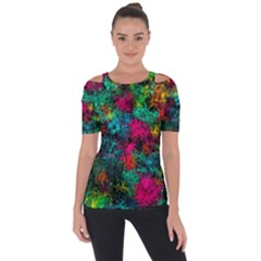 Squiggly Abstract B Short Sleeve Top