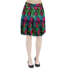 Squiggly Abstract B Pleated Skirt