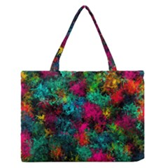 Squiggly Abstract B Zipper Medium Tote Bag