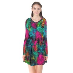 Squiggly Abstract B Flare Dress