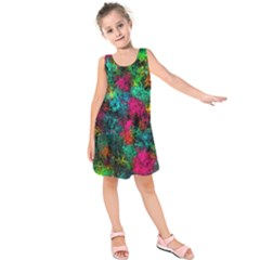 Squiggly Abstract B Kids  Sleeveless Dress