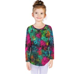 Squiggly Abstract B Kids  Long Sleeve Tee
