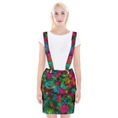 Squiggly Abstract B Braces Suspender Skirt