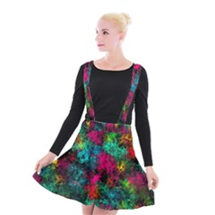 Squiggly Abstract B Suspender Skater Skirt
