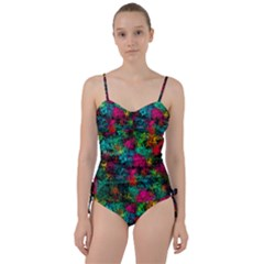 Squiggly Abstract B Sweetheart Tankini Set