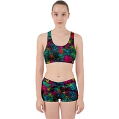 Squiggly Abstract B Work It Out Sports Bra Set