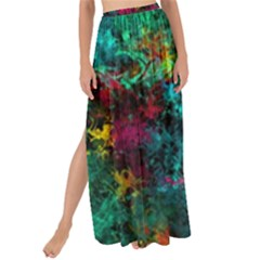 Squiggly Abstract B Maxi Chiffon Tie Up Sarong