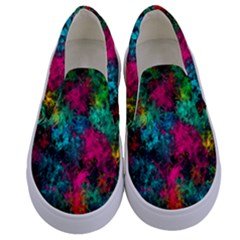 Squiggly Abstract B Kids  Canvas Slip Ons