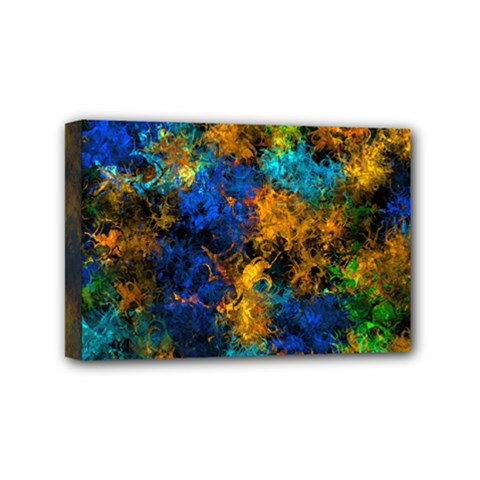 Squiggly Abstract C Mini Canvas 6  X 4