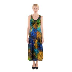Squiggly Abstract C Sleeveless Maxi Dress