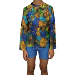 Squiggly Abstract C Kids  Long Sleeve Swimwear