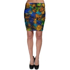 Squiggly Abstract C Bodycon Skirt