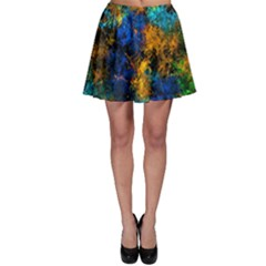 Squiggly Abstract C Skater Skirt