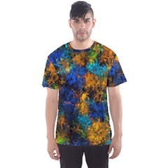 Squiggly Abstract C Men s Sports Mesh Tee