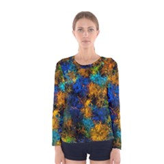 Squiggly Abstract C Women s Long Sleeve Tee