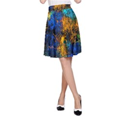 Squiggly Abstract C A Line Skirt