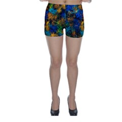Squiggly Abstract C Skinny Shorts
