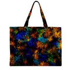 Squiggly Abstract C Zipper Mini Tote Bag