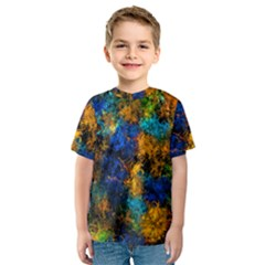 Squiggly Abstract C Kids  Sport Mesh Tee
