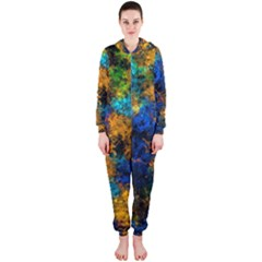 Squiggly Abstract C Hooded Jumpsuit (ladies)
