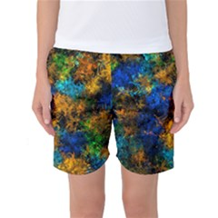 Squiggly Abstract C Women s Basketball Shorts