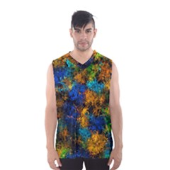Squiggly Abstract C Men s Basketball Tank Top