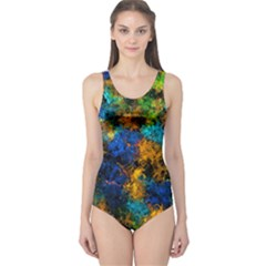Squiggly Abstract C One Piece Swimsuit