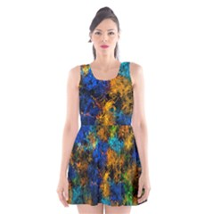 Squiggly Abstract C Scoop Neck Skater Dress