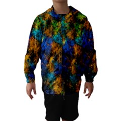 Squiggly Abstract C Hooded Wind Breaker (kids)